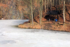 Frozen river Royalty Free Stock Image