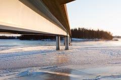 Frozen river Royalty Free Stock Photo
