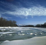 Frozen river Royalty Free Stock Photos