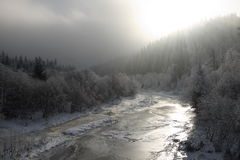 The frozen river. Royalty Free Stock Photography