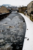 A Frozen River Aire, Skipton Royalty Free Stock Images
