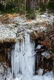 A frozen river royalty free stock photo
