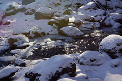 Frozen river Royalty Free Stock Photography