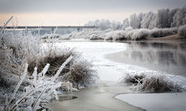 Frozen river Stock Photo