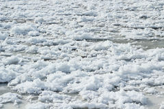 Frozen river channel background Royalty Free Stock Photo