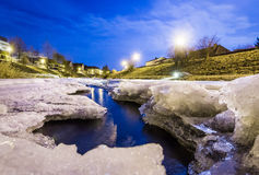 Frozen river close up Stock Image