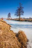 The frozen river Royalty Free Stock Image