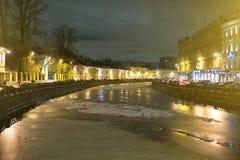 The frozen river. Royalty Free Stock Photos