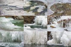 Frozen river ice textures Stock Image