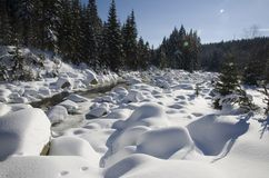 Frozen river Stock Image