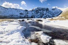 Frozen river, Lake District, UK. Stock Photos