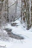 Frozen river landscape Stock Image