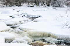Frozen river landscape Royalty Free Stock Photography