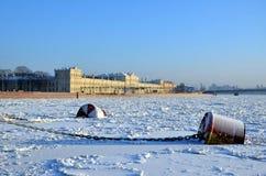 Frozen River Neva Royalty Free Stock Photo