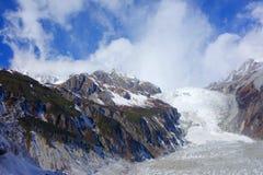 Frozen river in Niubei mountain Stock Photos