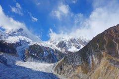Frozen river in Niubei mountain Stock Image