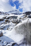 Frozen river in Niubei mountain Royalty Free Stock Photo