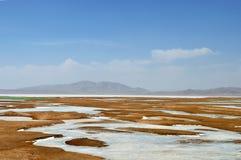 Frozen River in Qinghai-Tibet Plateau Stock Images