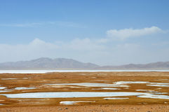 Frozen River in Qinghai-Tibet Plateau Royalty Free Stock Images