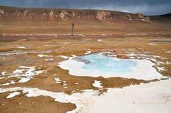 Frozen River in Qinghai-Tibet Plateau Stock Photo