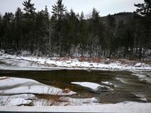 Frozen river. stock photos