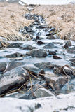 Frozen river. A stream of mountains in long exposure Stock Photo