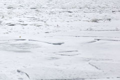 Frozen river Stock Photos