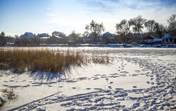 Frozen river Royalty Free Stock Images