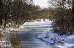 Frozen river Stock Images