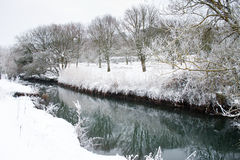 Frozen River Winter Snow and Ice royalty free stock images