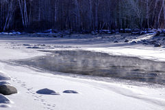 The frozen rivers Royalty Free Stock Photo