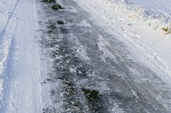 Frozen road Royalty Free Stock Photography