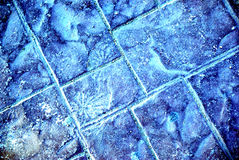 Frozen road made of stone. Royalty Free Stock Image