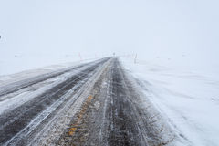 Frozen Road, Norway Stock Photo