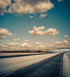 Frozen roads Stock Photography