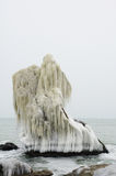Frozen rock near the Seaside, Black Sea Royalty Free Stock Photo