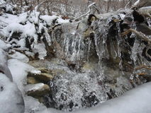 Frozen Rock Stream Royalty Free Stock Photography