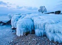 Frozen Rocks Royalty Free Stock Photo