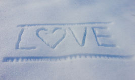 Frozen romance text Royalty Free Stock Photo