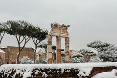 Frozen Ancient Rome royalty free stock image