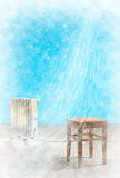 Frozen room concept Royalty Free Stock Photo