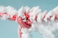 Frost on rope and knot Stock Photography