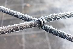 Frozen rope Royalty Free Stock Photos