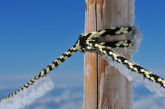 Frozen rope Royalty Free Stock Images