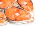 Frozen salmon fillets stock photos