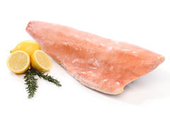 Frozen salmon fish fillet isolated Royalty Free Stock Photo