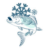 Frozen salmon symbol. For business Stock Image
