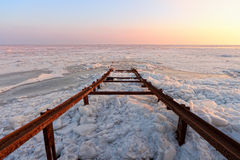 Frozen sea Royalty Free Stock Image