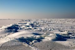 Frozen sea. Frozen Baltic sea in a suny winter day Stock Photo