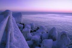 Frozen sea. Frozen Black Sea Royalty Free Stock Photography